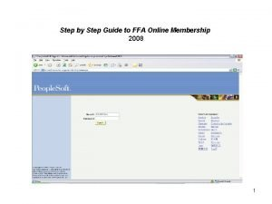 Step by Step Guide to FFA Online Membership