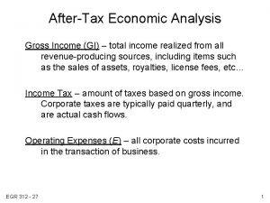 AfterTax Economic Analysis Gross Income GI total income