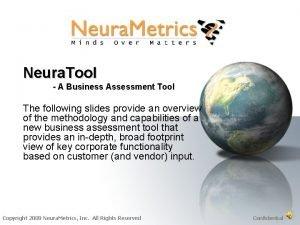 Neura Tool A Business Assessment Tool The following