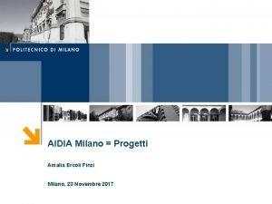AIDIA Milano Progetti Amalia Ercoli Finzi Milano 23