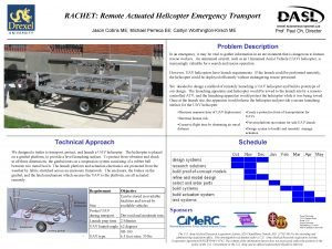 RACHET Remote Actuated Helicopter Emergency Transport Jason Collins