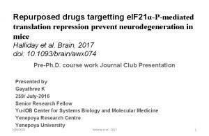 Repurposed drugs targetting e IF 21Pmediated translation repression