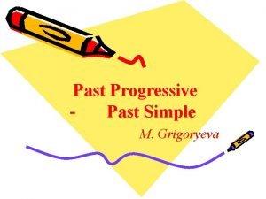 Past Progressive Past Simple M Grigoryeva Numerals Quantitative