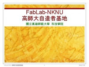 Fab Charter I n What is a fab