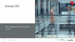 Annata 365 Fleet management with Annata 365 Click