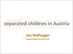 separated children in Austria Lisa Wolfsegger asylkoordination sterreich