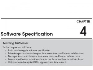 From requirements to specification Specification is a refinement