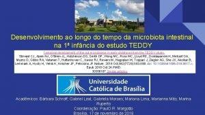 Desenvolvimento ao longo do tempo da microbiota intestinal