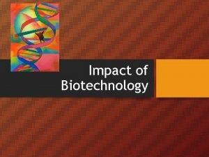 Impact of Biotechnology BENCHMARK SC 912 L 16