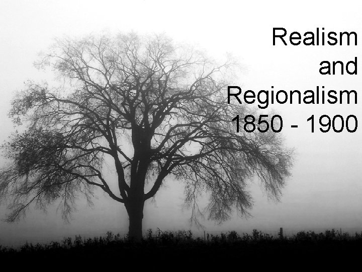 Realism and Regionalism 1850 1900 What is Realism