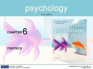 psychology third edition CHAPTER 6 memory Psychology Third