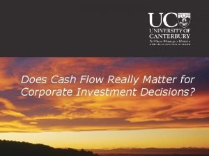 Does Cash Flow Really Matter for Corporate Investment