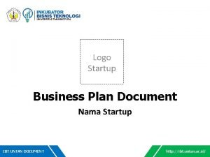 Logo Startup Business Plan Document Nama Startup IBT