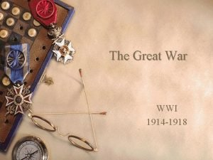 The Great War WWI 1914 1918 Causes of