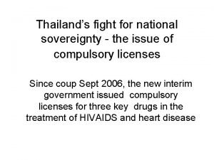 Thailands fight for national sovereignty the issue of