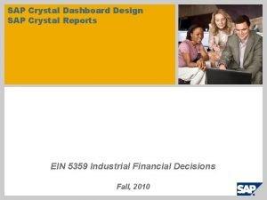 SAP Crystal Dashboard Design SAP Crystal Reports EIN