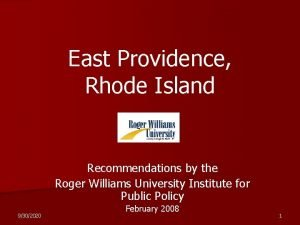 East Providence Rhode Island Recommendations by the Roger