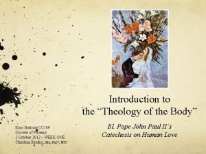 Introduction to the Theology of the Body Kino