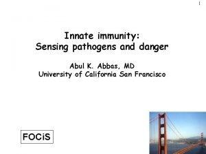1 Innate immunity Sensing pathogens and danger Abul