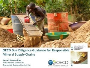 OECD Due Diligence Guidance for Responsible Mineral Supply