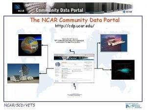 The NCAR Community Data Portal http cdp ucar