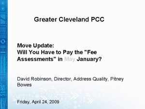 Greater Cleveland PCC Move Update Will You Have