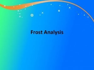 Frost Analysis Out Out Analysis The title of