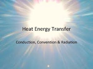 Heat Energy Transfer Conduction Convention Radiation Essential Standard