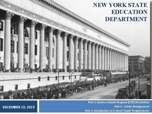 NEW YORK STATE EDUCATION DEPARTMENT DECEMBER 10 2015