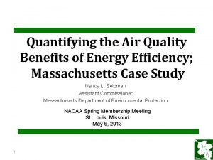 Quantifying the Air Quality Benefits of Energy Efficiency
