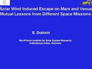 Solar Wind Induced Escape on Mars and Venus