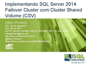 Implementando SQL Server 2014 Failover Cluster com Cluster