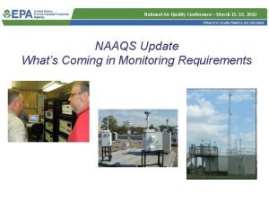 National Air Quality Conference March 15 18 2010