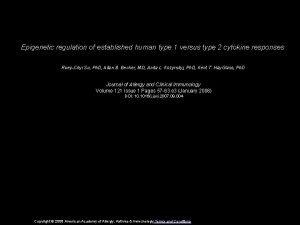 Epigenetic regulation of established human type 1 versus