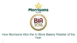 How Morrisons Won the In Store Bakery Retailer
