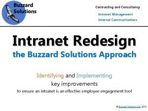 Contracting and Consultancy Intranet Management Internal Communications Intranet