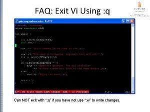FAQ Exit Vi Using q Can NOT exit