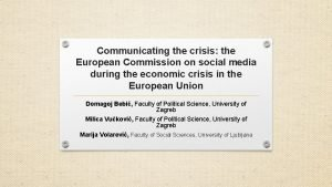 Communicating the crisis the European Commission on social