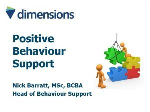 Positive Behaviour Support Nick Barratt MSc BCBA Head