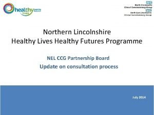 Northern Lincolnshire Healthy Lives Healthy Futures Programme NEL