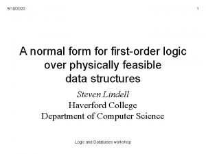 9102020 1 A normal form for firstorder logic