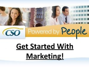 Get Started With Marketing Marketing on Your Mind