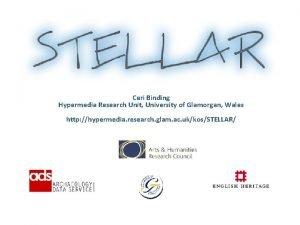 Ceri Binding Hypermedia Research Unit University of Glamorgan