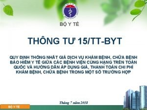 B Y T THNG T 15TTBYT QUY NH