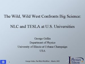 The Wild Wild West Confronts Big Science NLC