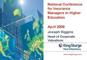 National Conference for Insurance Managers in Higher Education