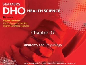 Chapter 07 Anatomy and Physiology Copyright 2014 Cengage
