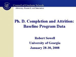Ph D Completion and Attrition Baseline Program Data