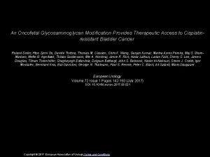 An Oncofetal Glycosaminoglycan Modification Provides Therapeutic Access to