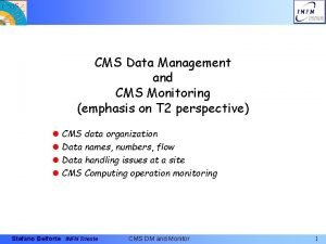 CMS Data Management and CMS Monitoring emphasis on